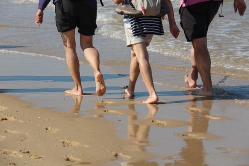 Les pieds dans l'eau à Moliets
