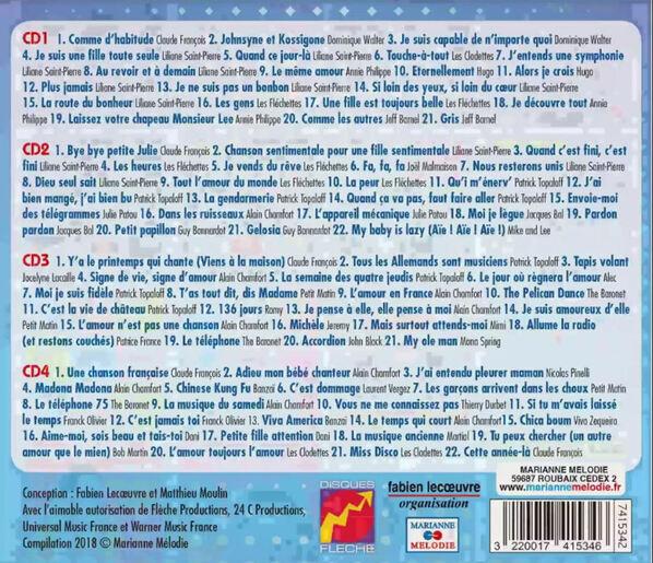 coffret 4 cd les années flèche
