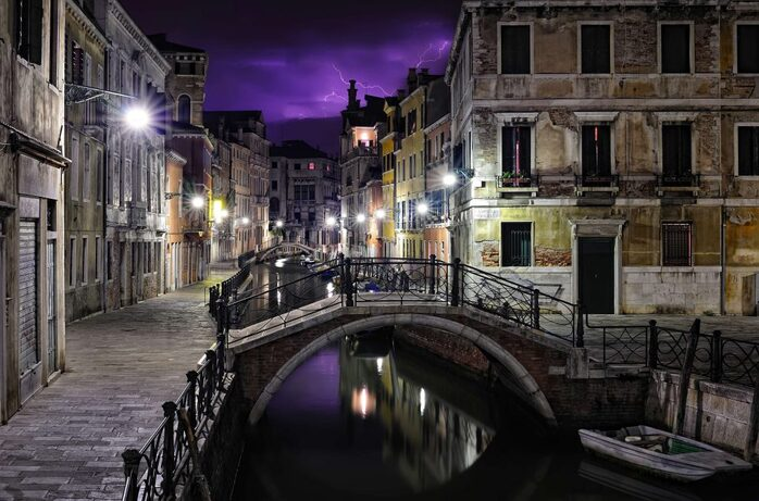 stormy night venice photos that look like paintings