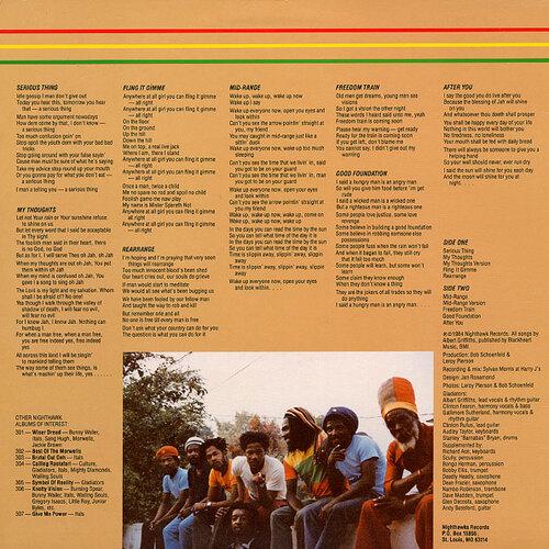 "The Gladiators : Album "" Serious Thing "" Nighthawk Records NH 308 [ US ]"