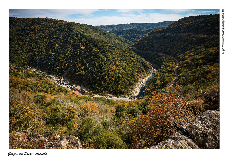 Automne dans les gorges du Doux - Ardèche