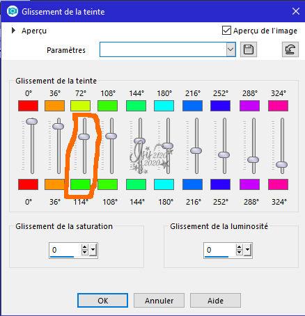 28 : Changer certaines couleurs d'un tube Change14