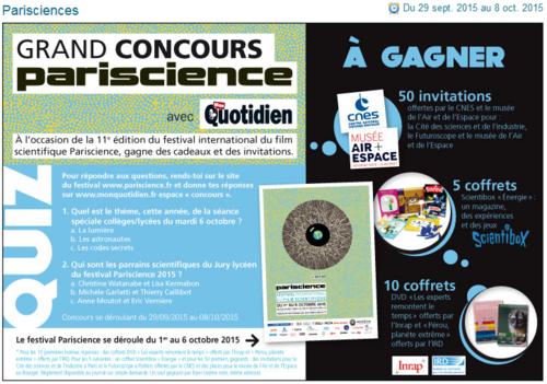 Concours Parisciences