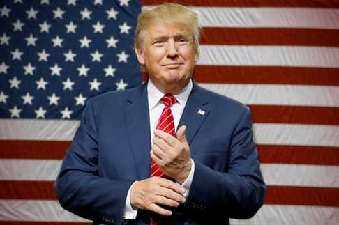 Quand Donald a apprit sa victoire, il a rit !
