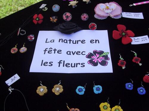 La nature en fête à la Croix-en Touraine le 6 juin 2021 - stand de bijoux sylvie le brigant