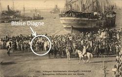 Arrivée de Blaise Diagne à Dakar