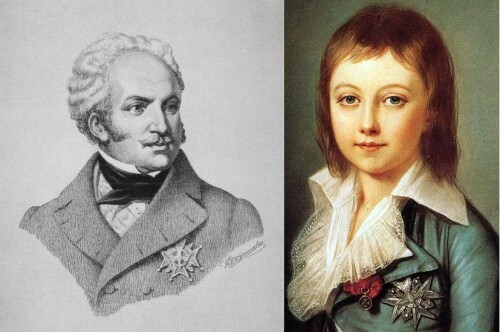 Karl Wilhelm Naundorff (links) en Lodewijk XVII