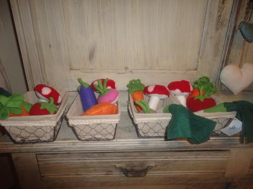 Les légumes du potager,15€ les 5 au choix