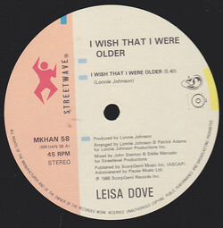 Leisa Dove - I Wish That I Were Older