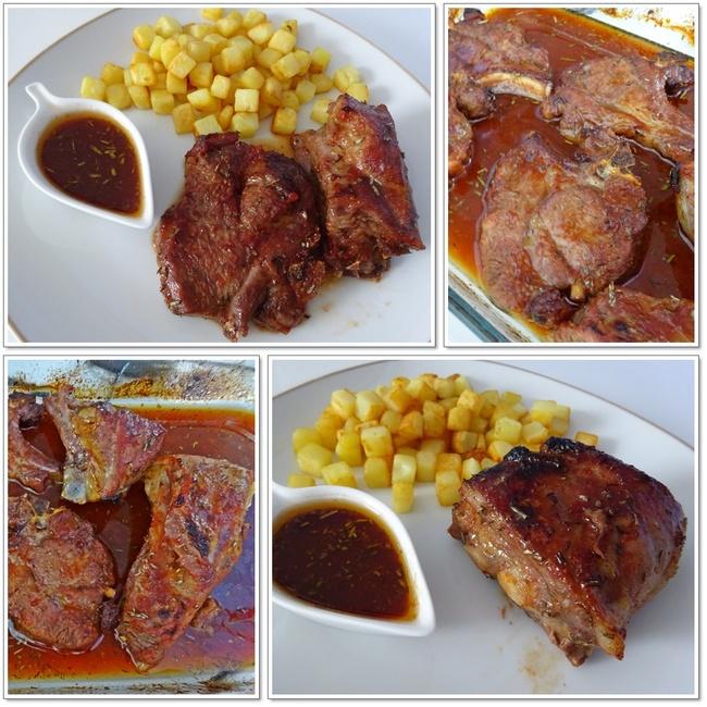 Grillades d'agneau et sauce barbecue