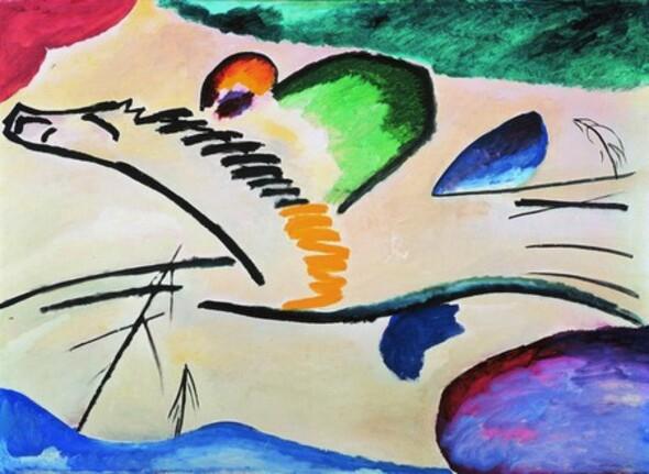 Kandinsky, Lyrique élan, 1911.