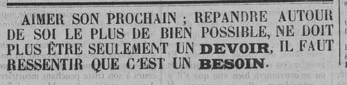 Encart (Le Fraterniste, 31 août 1911)
