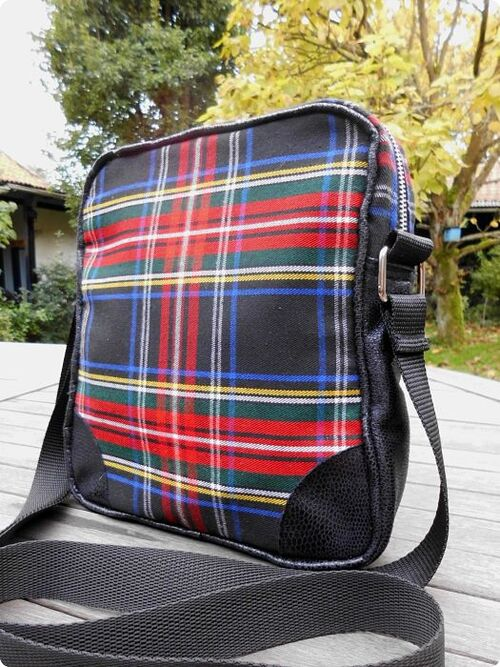 Sac cross-body en tartan avec son porte-feuille