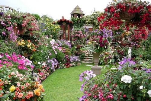 Jardin fleuri - Coeur-d-Emeraude