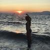 coucher de soleil sur l'île d'Égine ♡