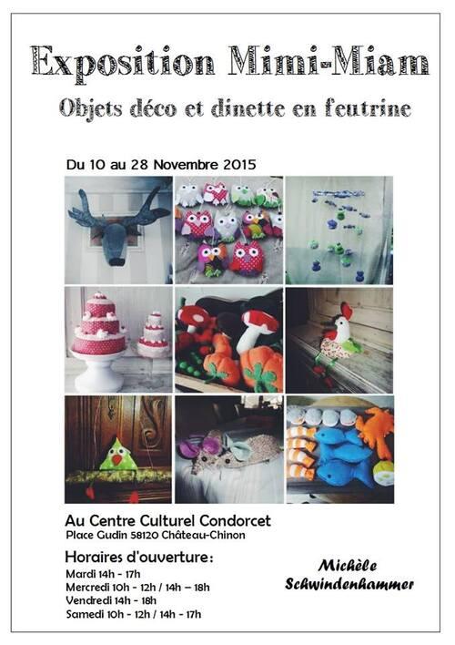 Je serais en expo du 12/11/15 au 24/11/15 à Château-Chinon