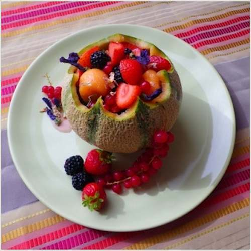 Melon aux fruits rouges