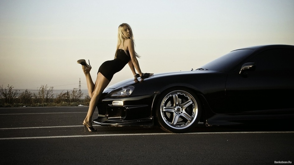 Car and woman