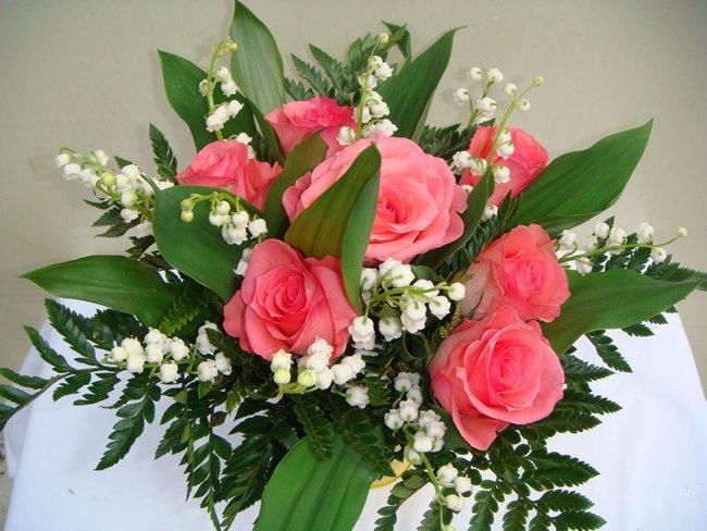 MUGUET et rose rose