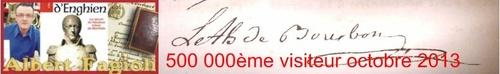 500 000ème visiteur en octobre 2013. (Albert Fagioli)