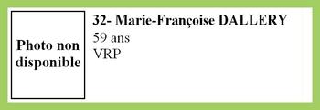 32- Marie-Françoise DALLERY