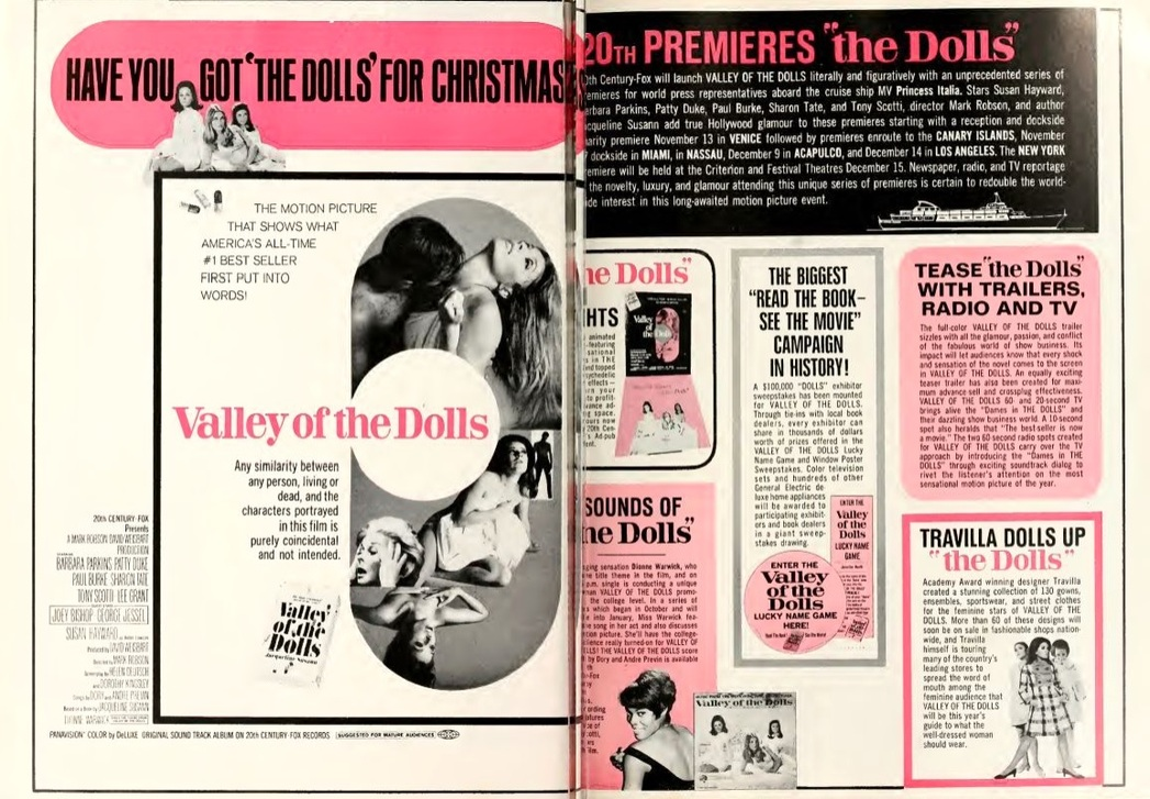 VALLEY OF THE DOLLS box office USA 1967