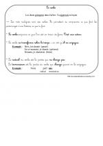 le verbe (leçon ce1)