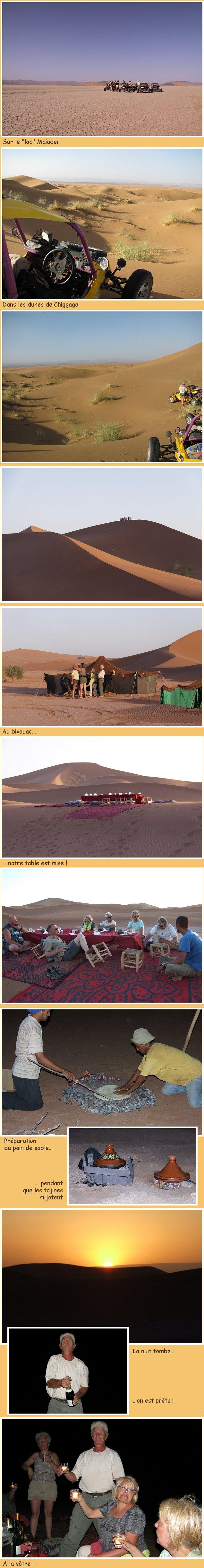 Bivouac dans les dunes