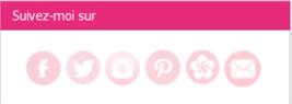 Des icônes réseaux sociaux