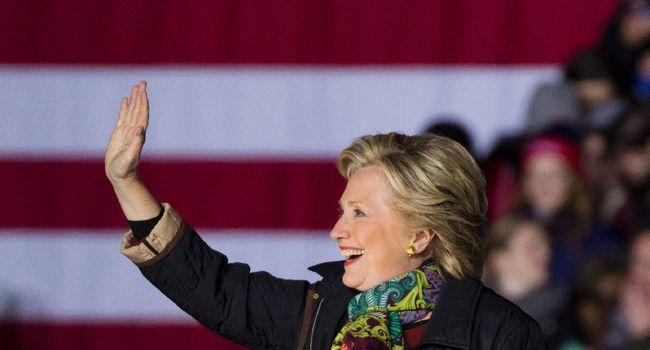 Hillary Clinton à son arrivée à un meeting à Philadelphie (Etats-Unis). - DOMINICK REUTER - AFP