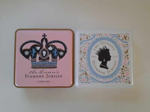 My Diamond Jubilee biscuit boxes !