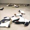 "Sylvie Fleury ""Mondrian shoes"" 1995"