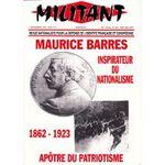 Maurice Barrés - 1862-1923