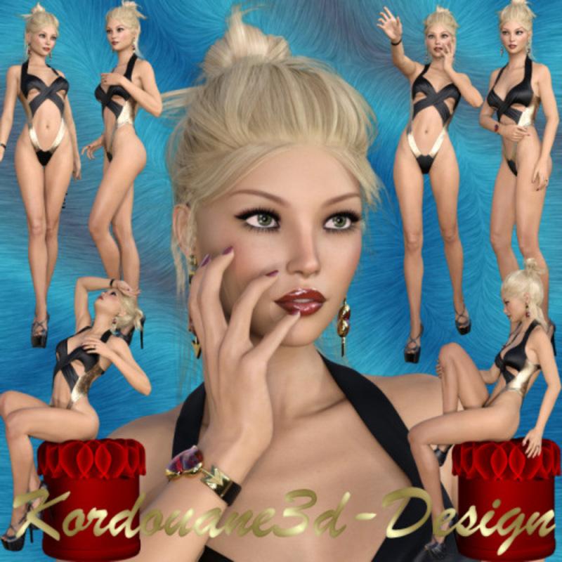 Eva : Femme sexy (tube-poser-render)