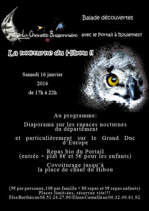 Nocturne du Hibou Samedi 16 janvier