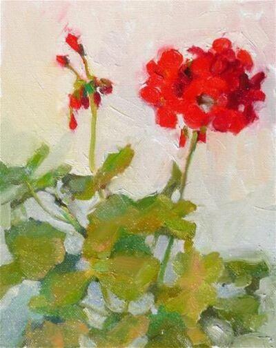 Géraniums en peinture