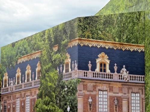 Trompe-l'oeil grille château Versailles 3