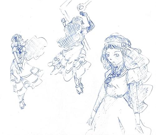 Fanarts de Fate, Evangelion, les MCO et Wakfu (carnet de croquis partie 13/17)