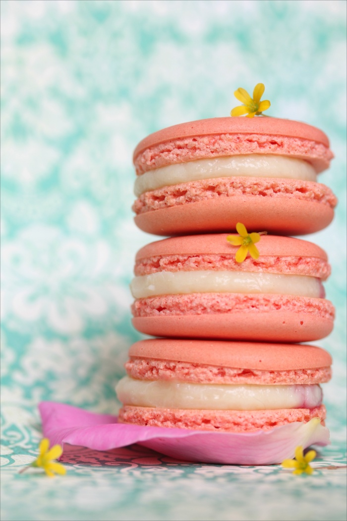 Macarons Ispahan {letchis, rose, framboise} de Pierre Hermé