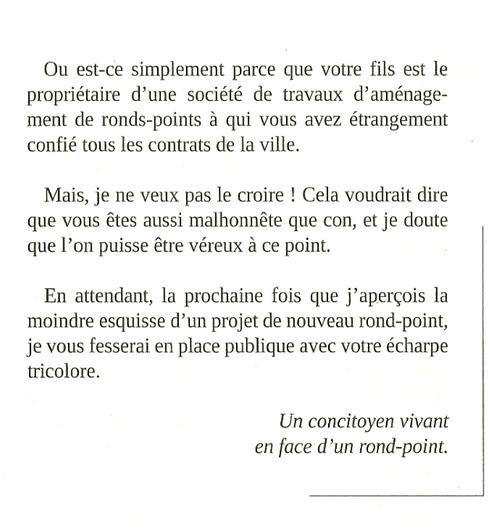 Mr le Maire exagère....