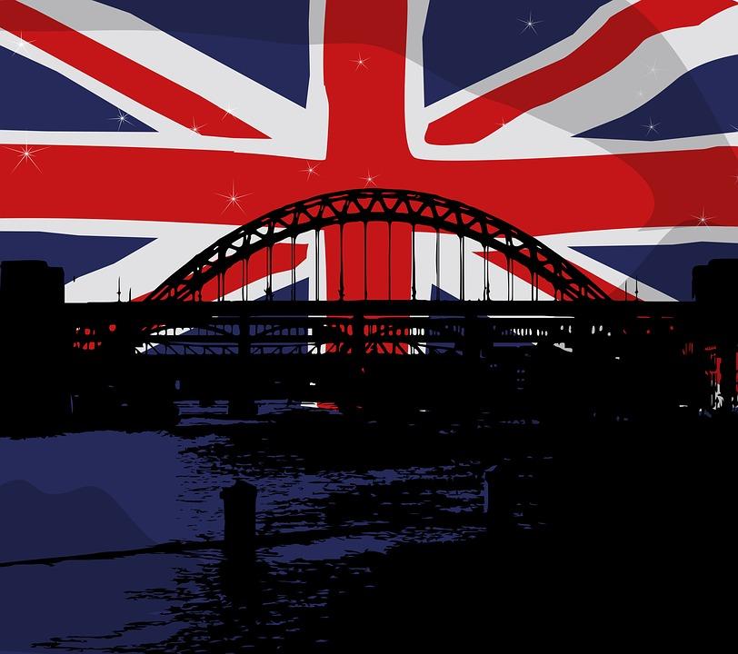Union Jack, Drapeau, Pont, Royaume Uni, Londres, Grunge