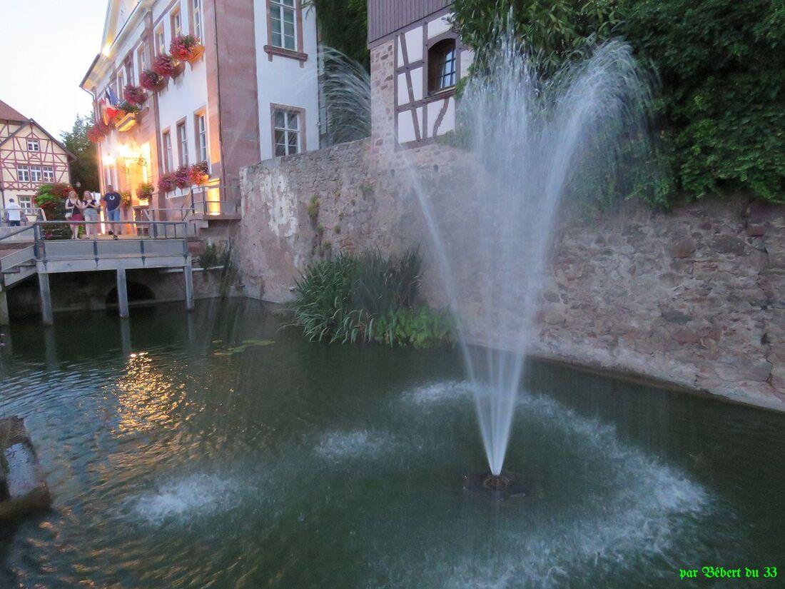 un jet d'eau en Alsace