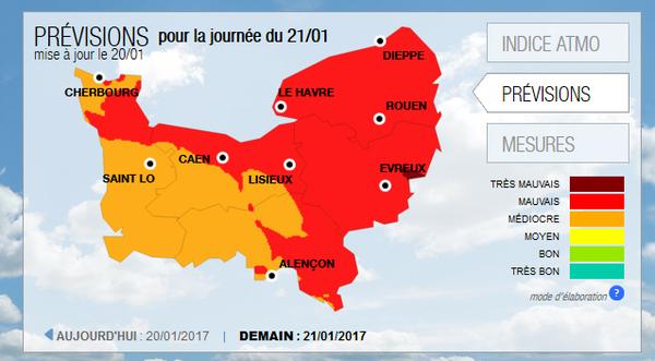 Pollution atmosphérique par particules ultrafines dans l'Orne (PM10)