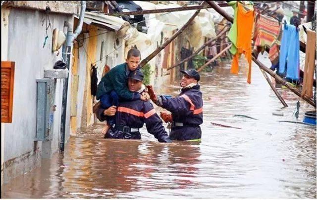 Les héros des innondations au Maroc