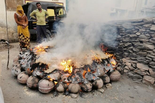 Rencontre avec un potier à Udaipur