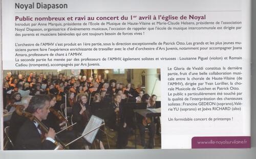 Articles Concert Ars Juvenis/AMHV/GUICHEN
