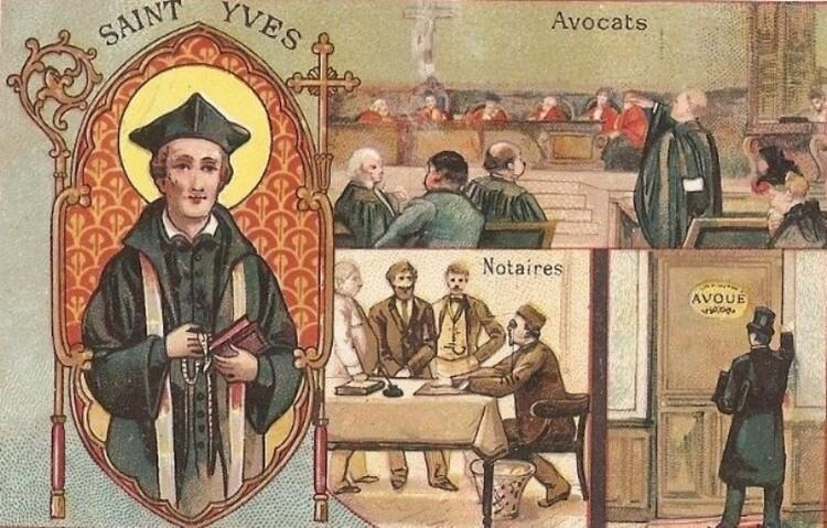 Le notaire en illustrations d'autrefois et textes originaux