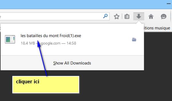 explications téléchargement diaporama sur Firefox