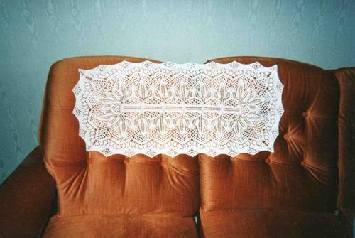 Un napperon fait au tricot