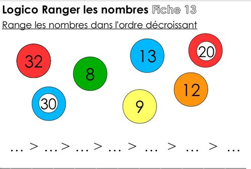 Logicos Ranger les nombres